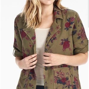 Lucky Brand Floral Army Jacket